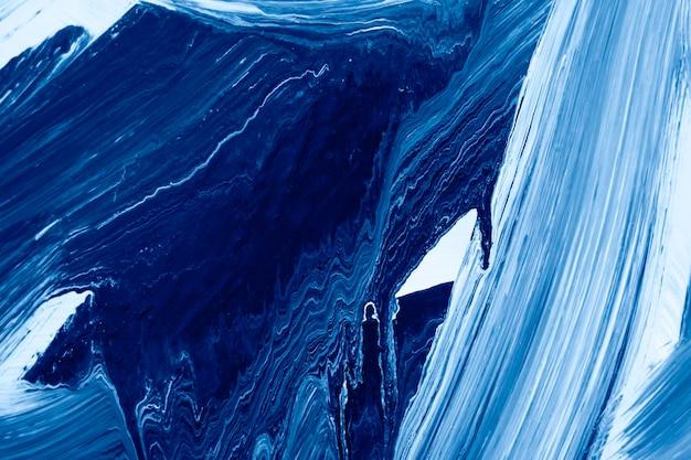 Масляная краска синяя текстура на холсте. абстрактное искусство фон. грубые мазки краски. может использоваться как фон.