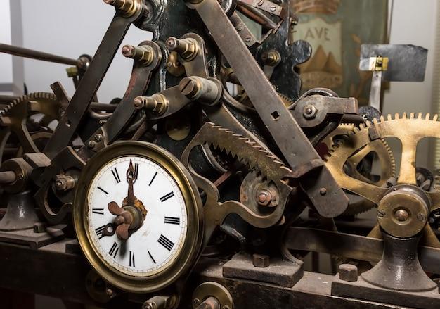 古い時計のメカニズム、時間の概念