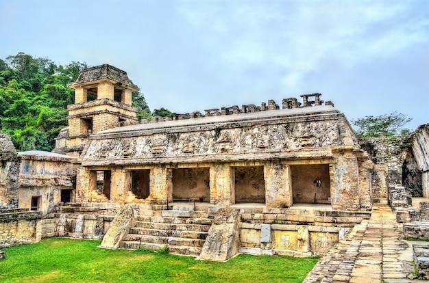 パレンケマヤ遺跡の宮殿。メキシコのユネスコ世界遺産