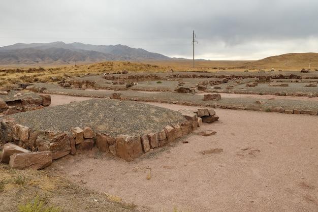 アクルタスの宮殿の要塞。カザフスタン。