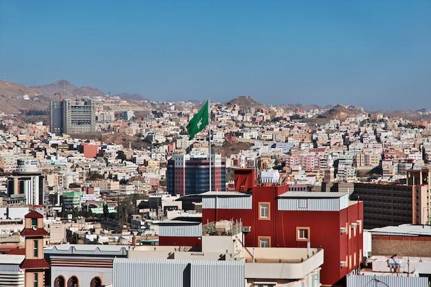 サウジアラビアのアブハ市のパノラマビュー