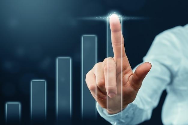 人はビジネスと利益の成長を抽象的に示します