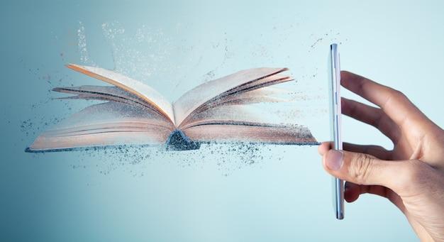 전화기에 사라지는 책이 표시됨