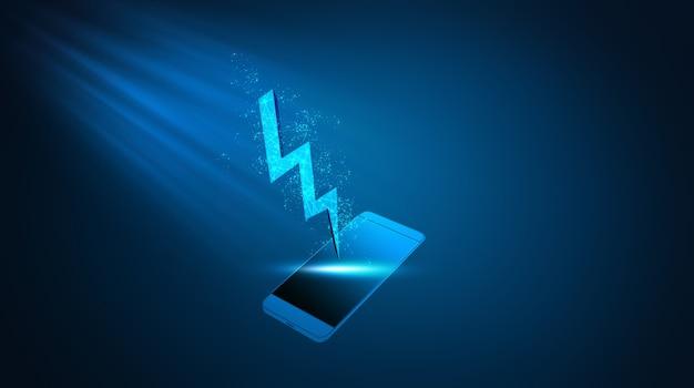 Телефон заряжается по беспроводной сети