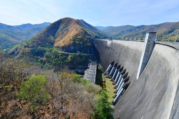 タイのダムの発電所