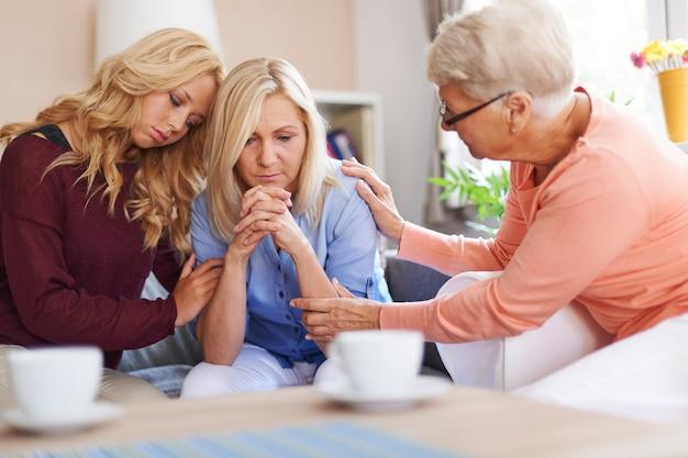 Наличие семьи - самая большая поддержка