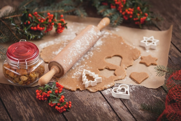 Процесс выпечки домашнего печенья