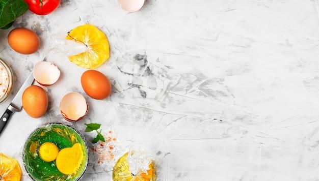エッグベネディクトの卵を作るプロセス