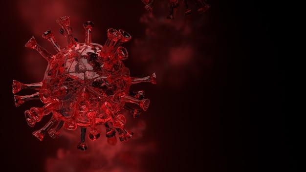 의료 개념 3d 렌더링을위한 빨간 코로나 바이러스