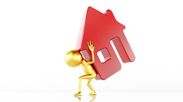 3dモデルのレンダリングは家を保存します