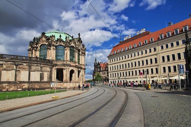 독일 드레스덴의 츠빙거 궁전으로 가는 길 작센