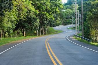 The road way, copy space