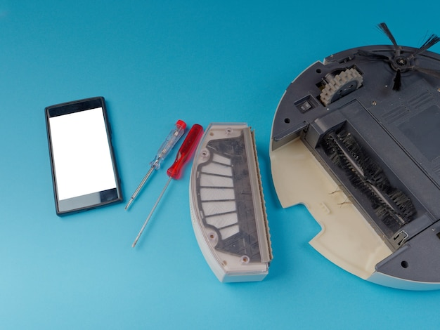 ロボット掃除機を分解する、ロボット掃除機を修理するというコンセプト