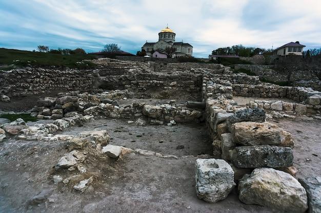 고대 그리스 도시 chersonese 랜드마크인 sebastopol의 유적
