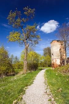 ベラルーシのゴリシャニ村にある要塞の遺跡