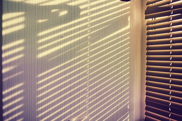 白い壁のジャルジーからの影。