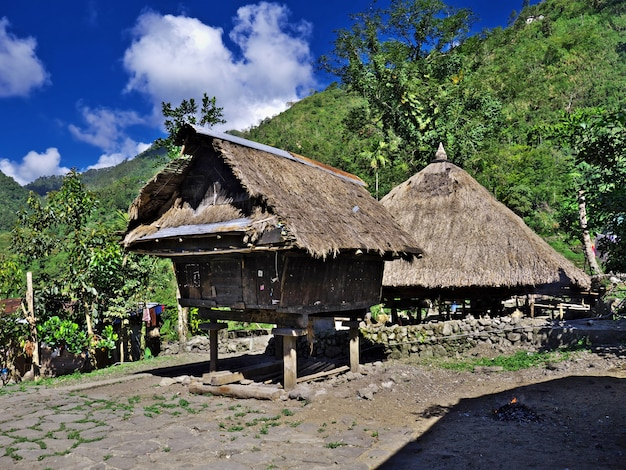 フィリピンのバンガアーンの小さな村