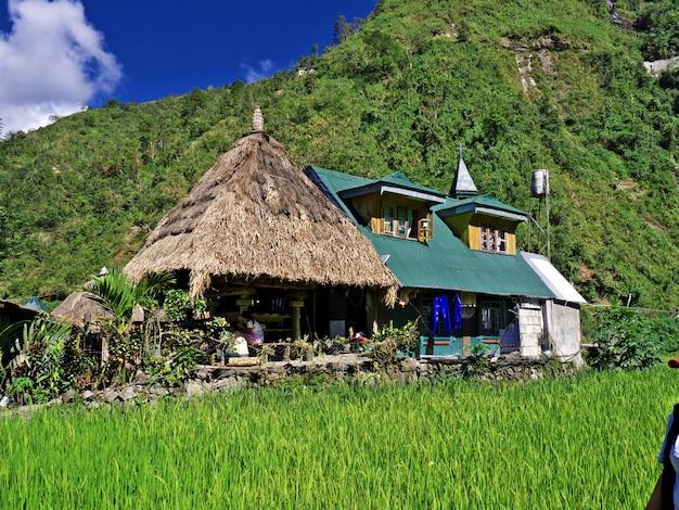 フィリピンのバンガーンの小さな村