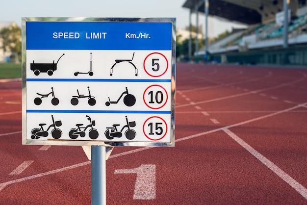 各タイプの車両の制限速度記号