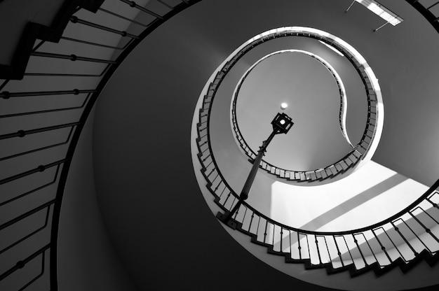 뮌헨 기술 박물관의 나선형 계단.