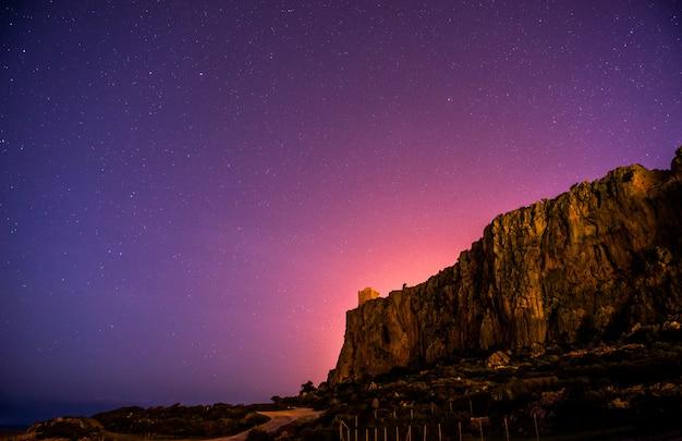 ロッキー山脈の上の星空。
