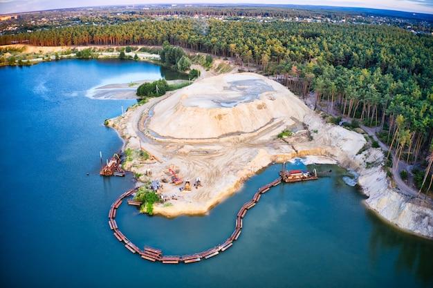 모래 추출 및 청소 스테이션
