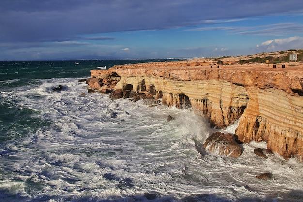 キプロス、地中海の嵐