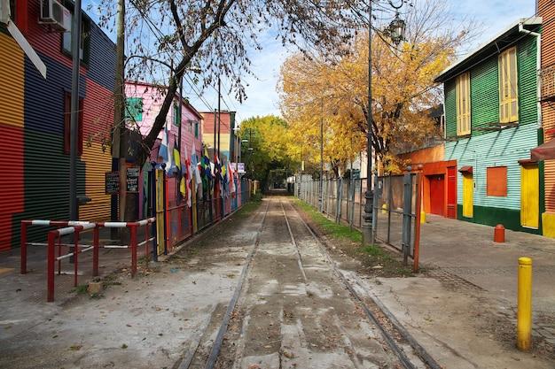 アルゼンチン、ブエノスアイレスのラボカ地区の通り