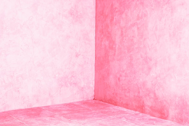 Поверхность окрашена сырой розовой штукатуркой.