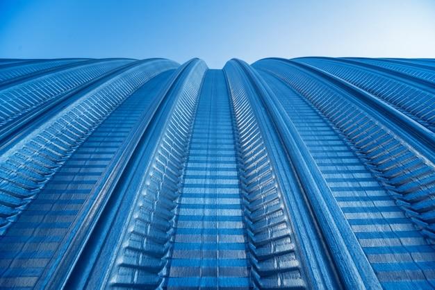 산업용 금속 지붕 추상적 인 배경 표면