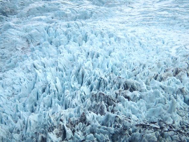 Поверхность ледника фалджокулд в национальном парке ватнайёкюдл, южная исландия