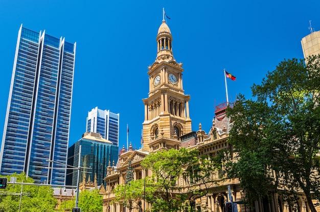 Сиднейская ратуша в австралии, новый южный уэльс.