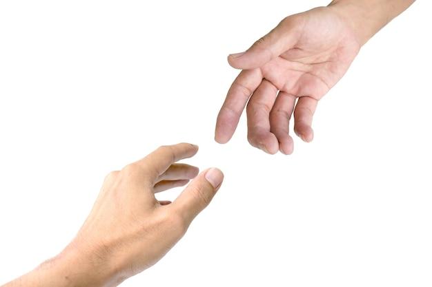 助け合う手をお互いに示すために使用されるシンボル