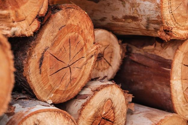 切り木のテーブルテクスチャ
