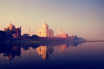 The Taj Mahal in Agra India