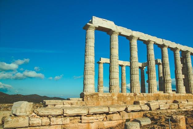 그리스 수니온 곶 포세이돈 신전
