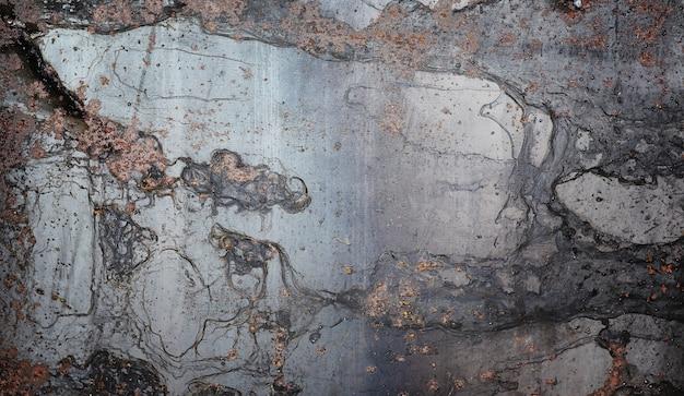 Текстура металлическая. промышленный фон из старого ржавого металла. текстурированный металлический фон с трещинами ржавчины.