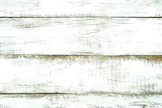 背景として白い板から古い木の表面の質感。