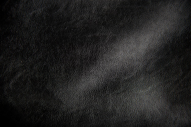 ブラックレザーの質感、パターンレザー。設計のための壁