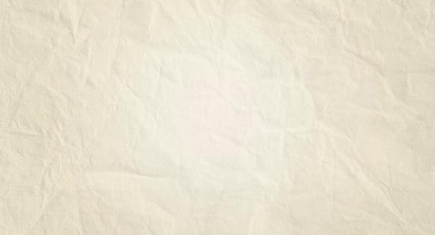 공간 복사본이 있는 구겨진 베이지색 빈티지 종이의 질감