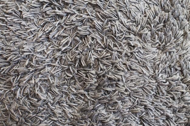 Текстура серого ковра ворсистая поверхность фона