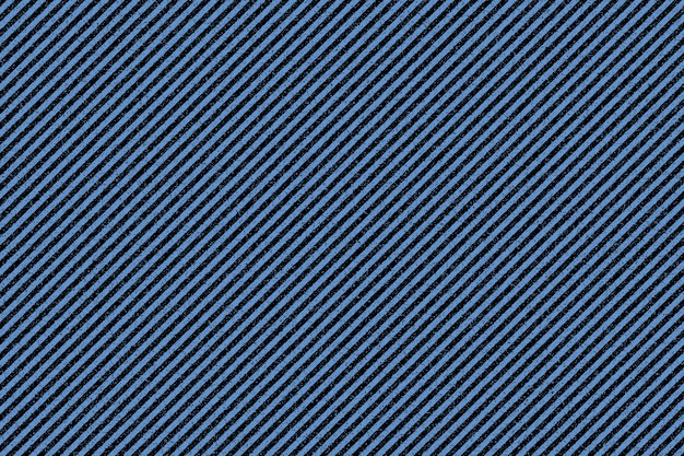 黒のストライプの青い生地の質感。デニムの背景