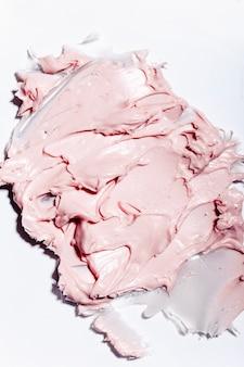 Текстура крема крупным планом