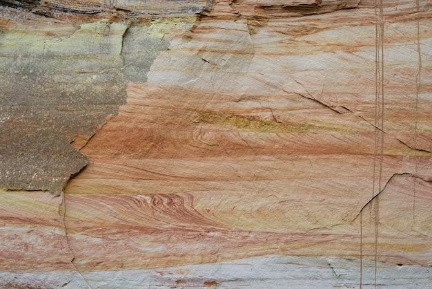 砂岩の層のテクスチャ砂堆積物の層デボン紀の地平線土壌構造...