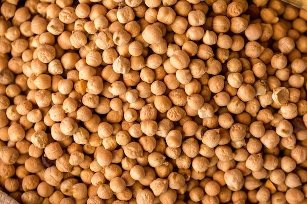 エンドウ豆の質感、上からの眺め。