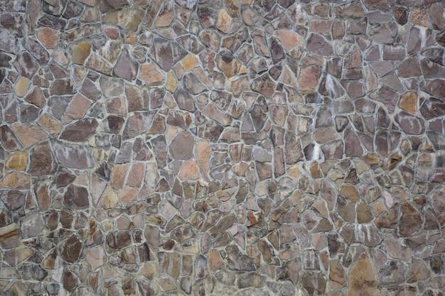 Фактура камня, выложенного на стене, разной формы и оттенка для всего каркаса.