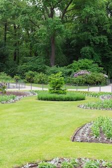 Тиргартен, прогулка по красивому зеленому парку в центре берлина, зеленым лужайкам и красивым цветам.