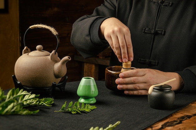 伝統的な抹茶の製法