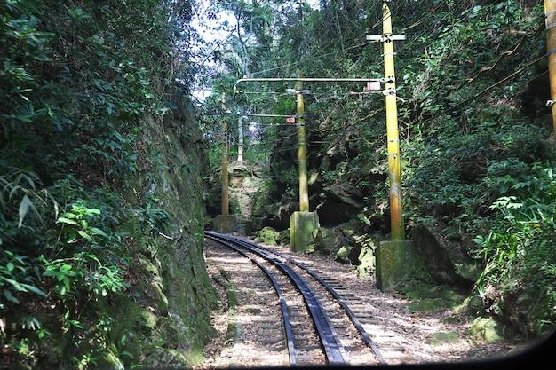 Поезд до корковадо в рио-де-жанейро, бразилия