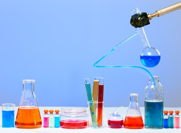 Пробирки в лаборатории